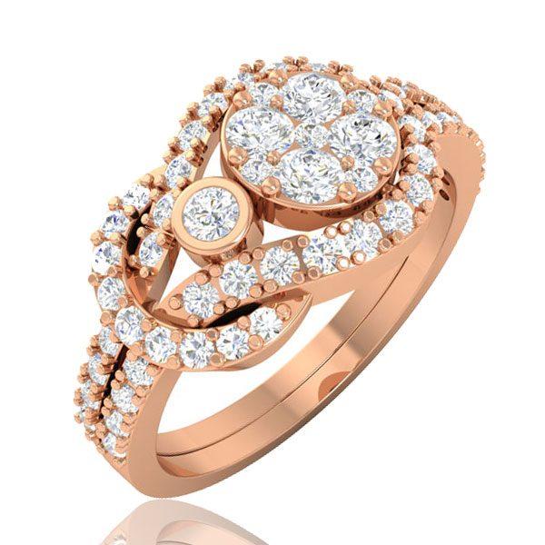 ETERNITY, Cluster Ring | 14kt Rose Gold | White Diamonds