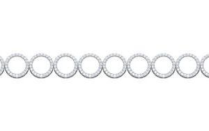 Classic Circle Pendant | White Diamonds Pendant | 14kt White Gold