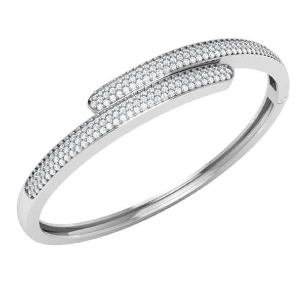 STYLISH | White Diamonds Bracelets | Classic White Gold