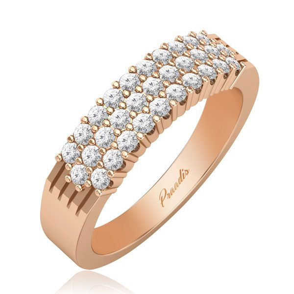ALAYNA | 14 Kt Rose Gold Ring | Diamond Wedding Ring