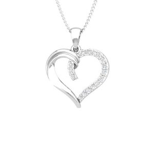White Gold Diamond Pendant | CUPIDO | 14 Kt White Gold | Affetto