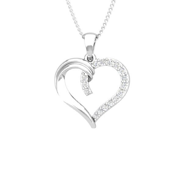 White Gold Diamond Pendant | CUPIDO | 14 Kt White Gold | Affetto