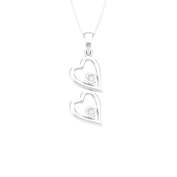 AGAPETO | Affetto Collection | Gold Heart |Designs Diamond Pendant