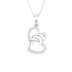 Tangled Love Pendant | 14 Kt White Gold | White Diamonds