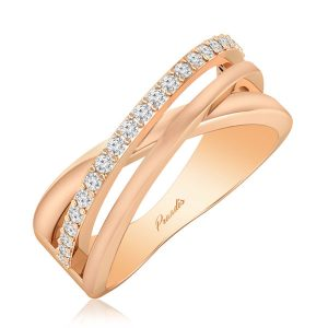 Belle Diamond Ring | 14 Kt Rose Gold | White Diamond Ring