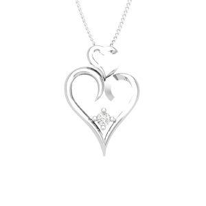 Heart Shaped Pendant   ROMANTICO   White diamonds