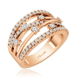 ADARA | 14 Kt Rose Gold | Wedding Diamond Ring