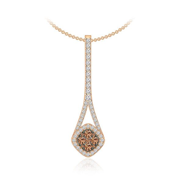 DARLINA | 14 Kt Brown Diamond | Rose Gold Brown Diamond