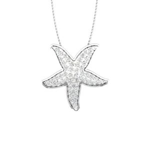 Cheery Starfish Pendant | Sea Shore Occasion White Gold | 14 kt Pendant