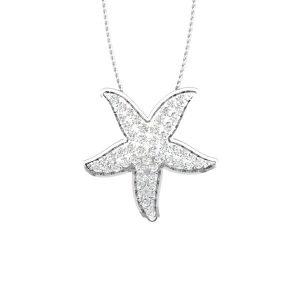 Cheery Starfish Pendant | Sea Shore Occasion White Gold | 14 kt Pendant