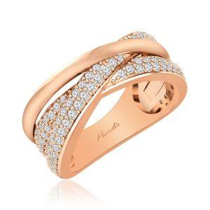 ALINA | Cocktail Diamond Ring | 14kt Rose Gold White Diamonds