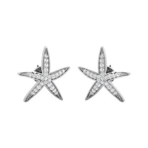Starfish diamond Stud | TINY STARFISH | 14 Kt White Gold Studs