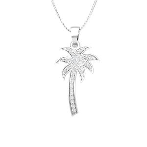 Diamond Palmtree Pendant | FRESH PALMTREE | 14Kt White Gold