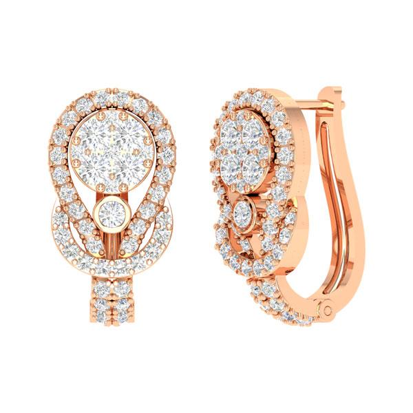 Diamond Earrings Eternity 14kt Rose Gold Praadis Luxury Division