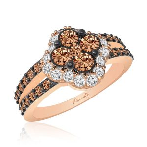GRACE | 14 Kt Rose Gold | Grace Brown Diamond Ring | Diamond Ring