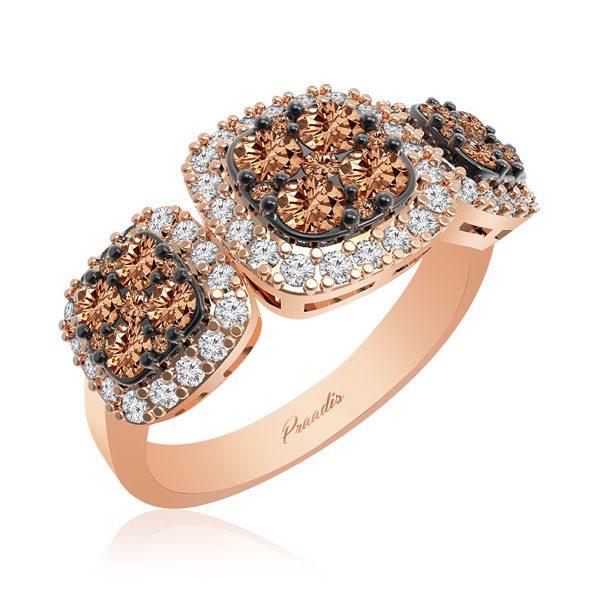 Chocolatte Diamond Ring | MABEL | 14Kt Rose Gold