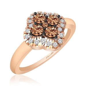 Dacey Brown Diamond Ring | 14kt Rose Gold | Classic |Ring collection