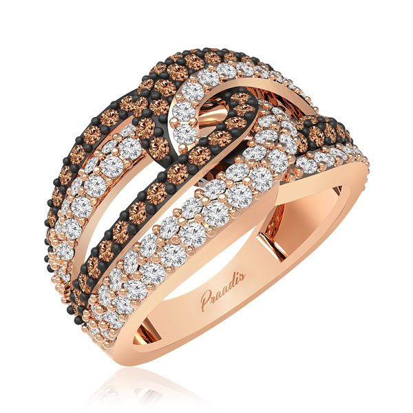 Chocolate Diamond Ring | GAIUS | 14Kt Rose Gold