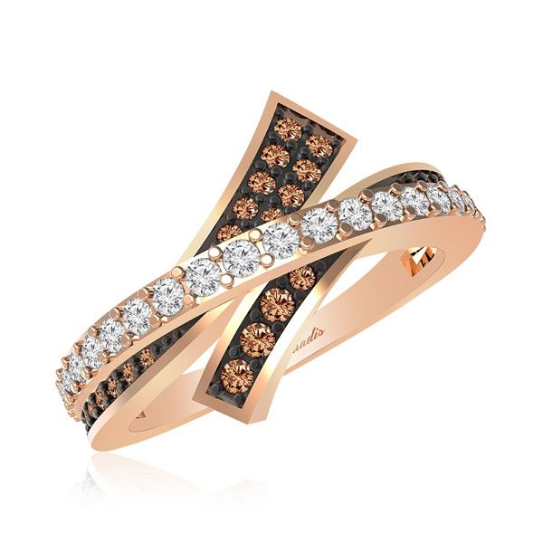 AILEEN,Chocolatte Occasion | 14 Kt Rose Gold | Brown diamond Ring
