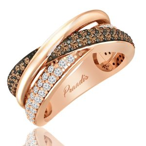 Brown Diamond Ring | CANDERE | 14 Kt Rose Gold