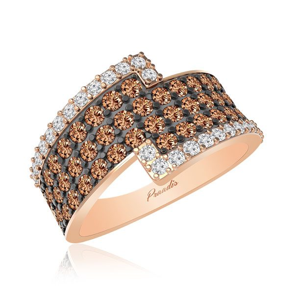 CAPE | 14kt Rose Gold | Chocolatte Diamond Ring | Fashion Jwellery