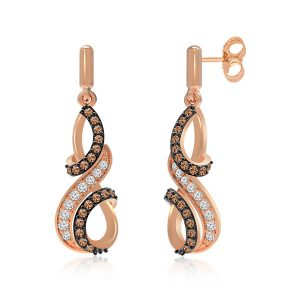 Perl 14K Rose Gold | Brown Diamonds | Praadis Earrings