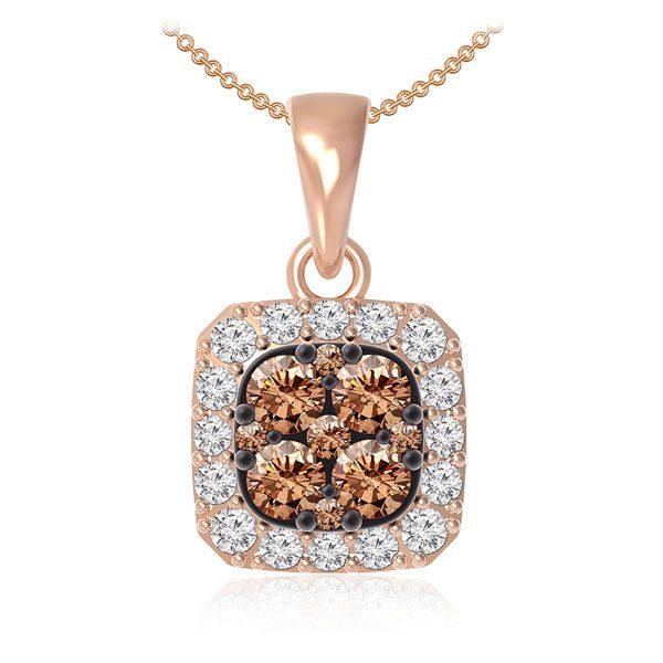 Cluster Rose Gold | Pendant | MABEL | White diamonds