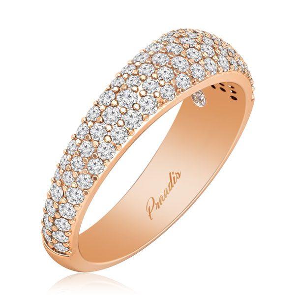 Rose Gold Diamond Rings | White Diamonds Ring | CARMELINA