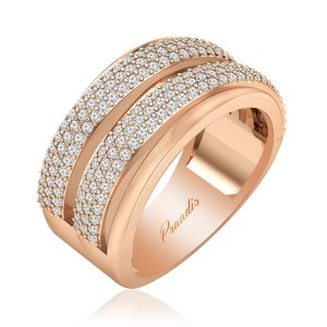 OPHIRA | 14kt Rose Gold Ring | White Diamonds Ring