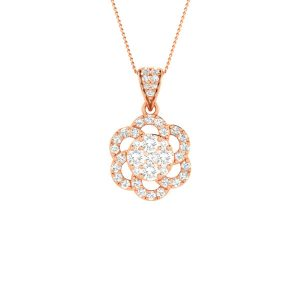 DAHLIA | 14 Kt Rose Gold Pendant | Dahlia Rose Gold