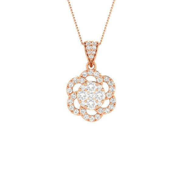 DAHLIA | 14 Kt Rose Gold Pendant | Dahlia Rose Gold