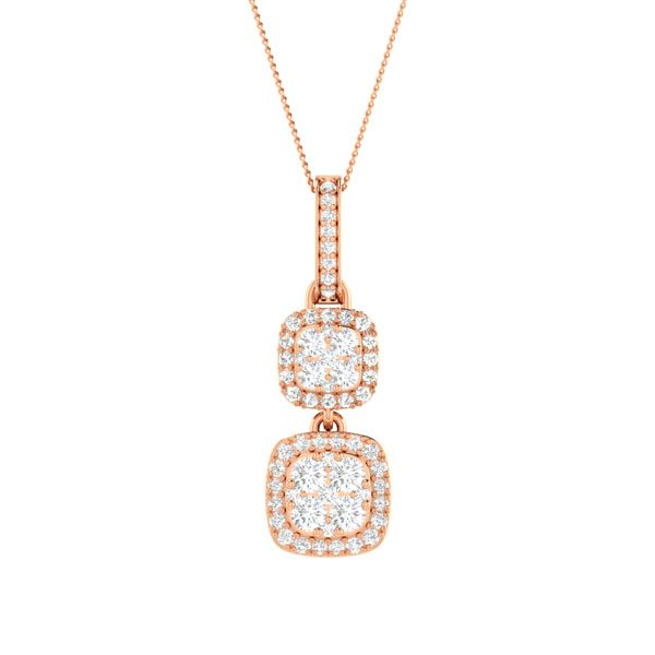 RAYEN | Rose Gold | 14kt | Diamond Pendant Collection | praadis.com