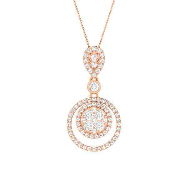 Cade White Diamond | 14 kt Rose Gold | Cade Diamond Pendant