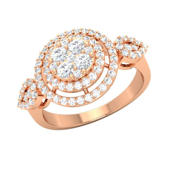 Rose Gold Diamond Ring | CADE | 14kt Rose Gold