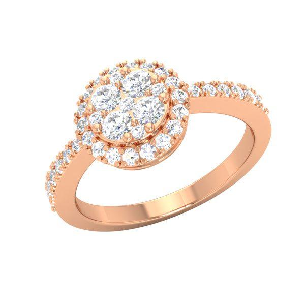 SABELLA | 14 Kt Rose Gold | White Wedding Diamond Ring