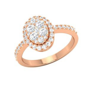 AMY | 14 Kt | Rose Gold Rings | Diamond Ring | Praadis Luxury Division