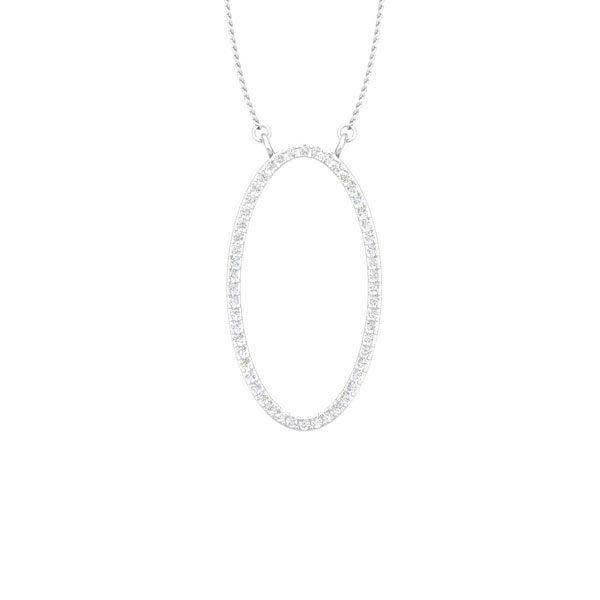 Ora 14kt Classic White Diamond Pendant | Praadis Ora Pendant