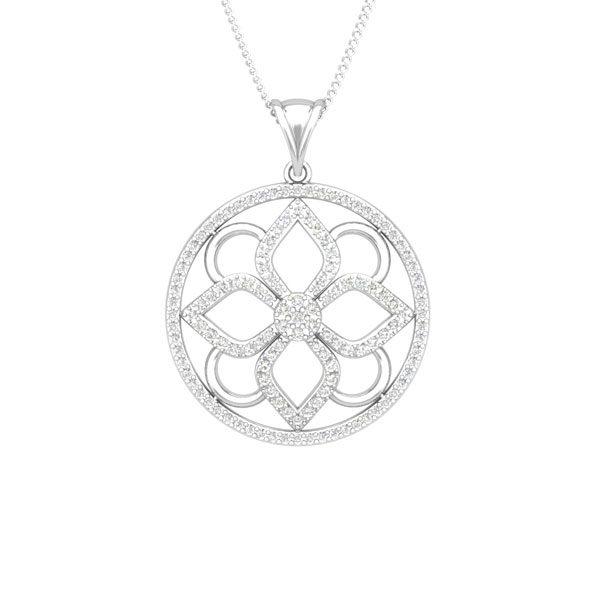 14Kt White Gold | AMIA | White Diamonds Cocktail Pendant