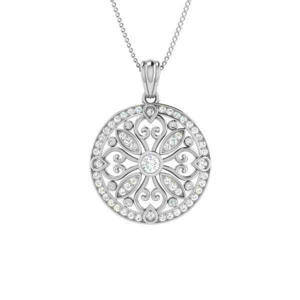 Cocktail Pendants | 14Kt White Gold | White diamonds