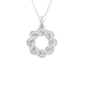 Classic Diamond pendant | CHRYSTA | 14kt White Gold | Praadis Pendant