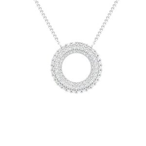 Gold Diamond Pendant | ORLENA | White diamonds Pendant