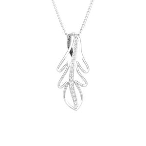 Casual Pendant ,FOLIO | 14 Kt White Gold | White Diamonds Pendant