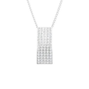CHARIS | 14 Kt Classic White Gold | White Diamond Pendant