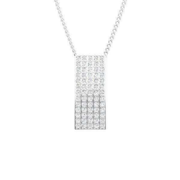 CHARIS | 14 Kt Classic White Gold | White Diamond Pendant