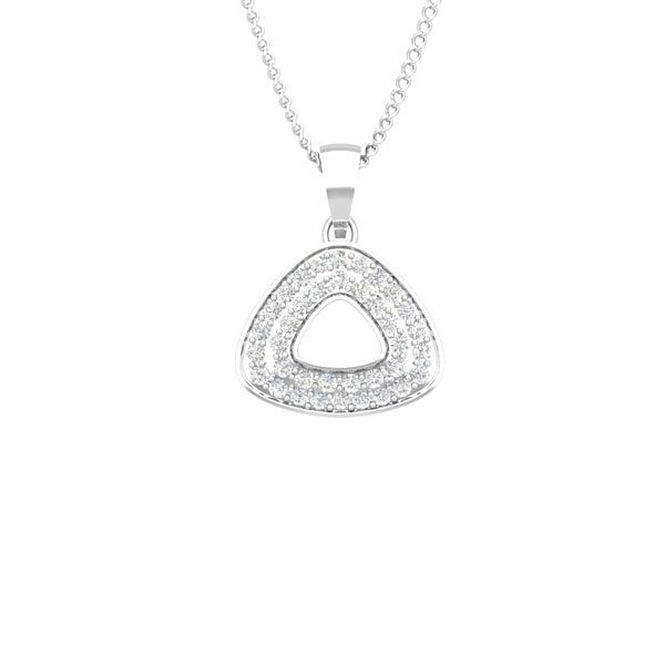 Dulce | White Gold | 14 Kt Casual Pendant | Diamond Jwellery