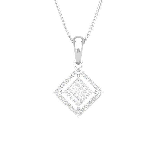 BONITA | Diamond Pendant | Classic White Gold Pendant