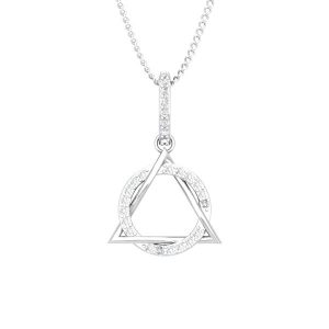 Spritual Diamonds Pendant | FABIOLA | 14kt White Gold