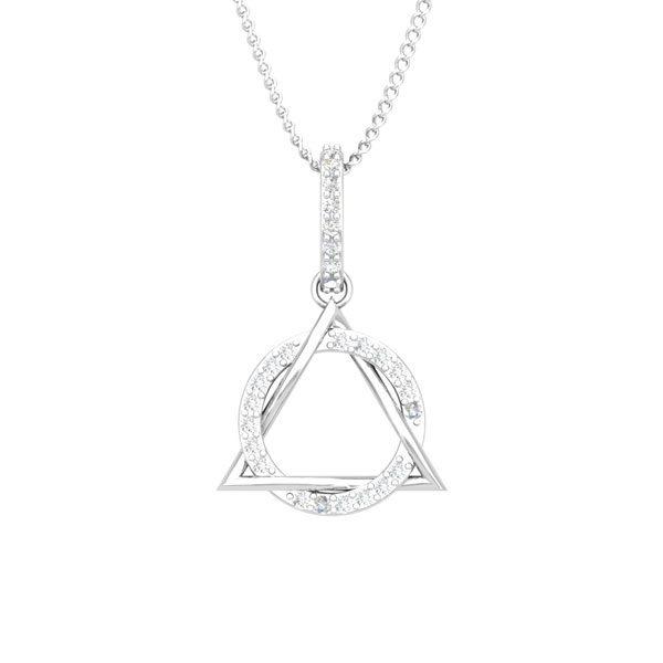Spritual Diamonds Pendant | FABIOLA | 14kt White Gold