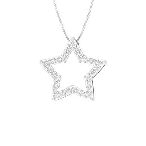 Star diamond Pendant | STARLIS-1 | 14kt White Gold