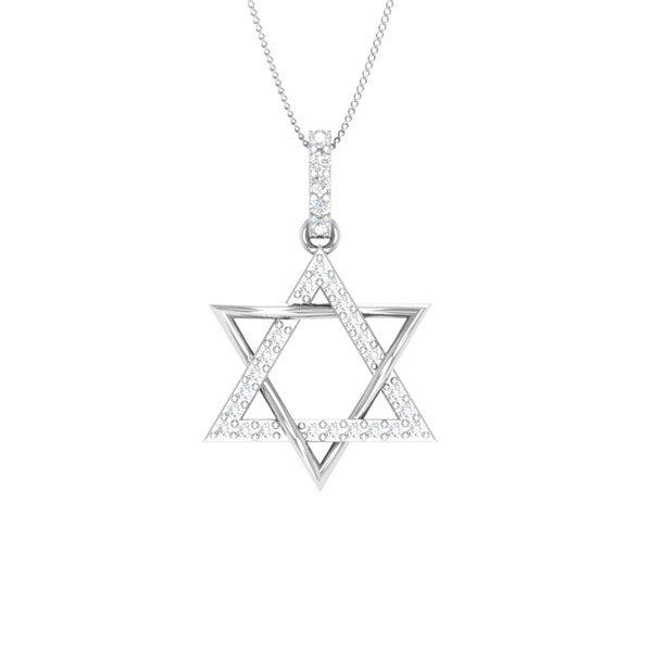 Spritual Diamond Pendant | BAKENE-1 | Spritual White diamonds Pendant
